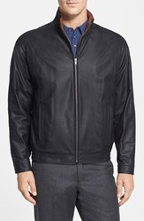 Men's Big And Tall Remy Leather 'Lite' Lambskin Leather Jacket Black