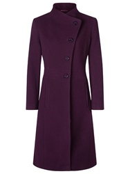 Kaliko Full Skirt Funnel Neck Coat Dark Red