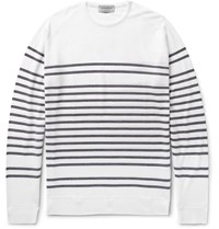 John Smedley Totnes Striped Merino Wool Sweater Neutrals