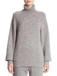 Chlo Cashmere Turtleneck Sweater Pearl Grey