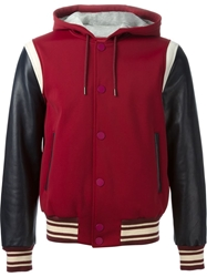 Marc By Marc Jacobs Hooded Bomber Jacket Red