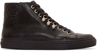 Versus Black Quilted Leather Anthony Vaccarello Edition Sneakers