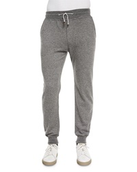 Brunello Cucinelli Cashmere Knit Jogger Pants Gray
