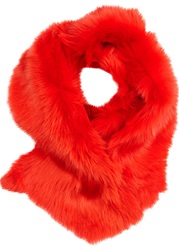 Karl Donoghue Bright Red Shearling Scarf