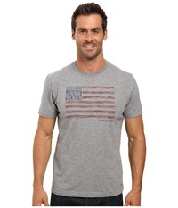 Life Is Good Spread Vibes Flag Crusher Tee Heather Gray Men's T Shirt