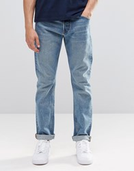 Weekday Common Straight Jeans Instant Blue Instant Blue 74 105