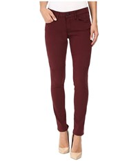 Mavi Jeans Alexa Mid Rise Skinny In Burgundy Sateen Twill Burgundy Sateen Twill Women's Brown