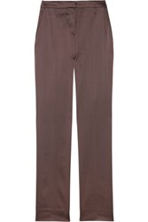 Alberta Ferretti Satin Twill Cropped Pants