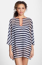 Ted Baker Women's London Stripe Cover Up Tunic Blue