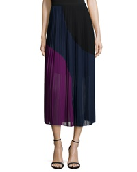 Dkny Colorblocked Pleated Maxi Skirt