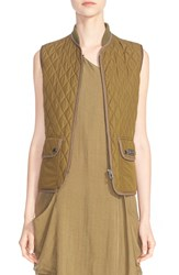 Belstaff 'Wickford' Lightweight Technical Quilted Vest Olive