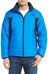 The North Face Men's 'Bombay' Quilted Jacket Bomber Blue Urban Navy