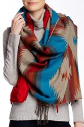 Lava Oversized Scarf Blue