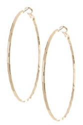 14Th And Union Large Textured Hoop Earrings Metallic
