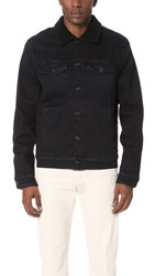 7 For All Mankind Luxe Performance Sherpa Lined Denim Jacket Stockholm