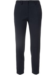 Forte Forte Cigarette Cropped Trousers Blue