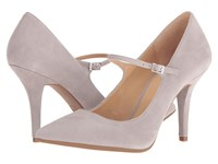 Michael Michael Kors Claire Flex Mary Jane Pearl Grey Kid Suede Women's Maryjane Shoes Taupe