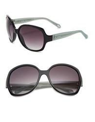 Fossil 59Mm Oversized Sunglasses Black