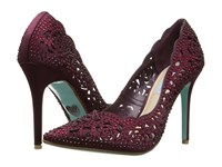 Blue By Betsey Johnson Elsa Bordeaux High Heels Burgundy