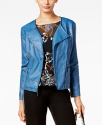 Alfani Petite Faux Leather Moto Jacket Only At Macy's Global Blue