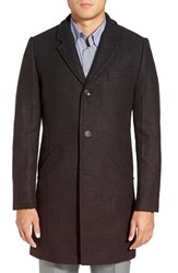 Men's Ted Baker London 'Gaines' Ombre Topcoat