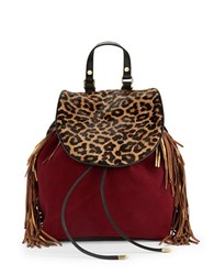 Sam Edelman Fifi Calf Hair Backpack Rust Leopard