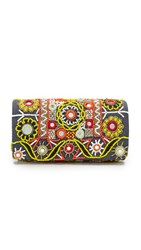 Santi Embroidered Clutch Black Multi