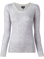 Emporio Armani Crew Neck Sweater Pink And Purple