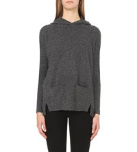 Whistles Cashmere Hoody Barely Black
