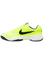 Nike Performance Court Lite Clay Outdoor Tennis Shoes Volt Black White Neon Yellow