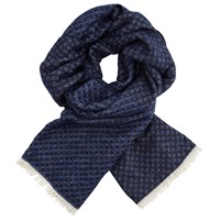 Scotch And Soda Refined 'Combo C' Scarf Blue