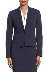 Women's T Tahari 'Carina' Suit Jacket Navy