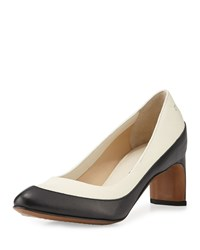 Cnc Costume National Two Tone Leather Pump White Black