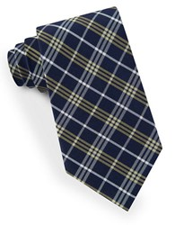 Lord And Taylor Plaid Striped Tie Yellow
