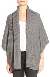 Women's Halogen Dolman Sleeve Wool And Cashmere Cardigan Heather Dark Grey