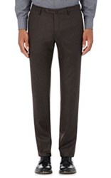 Incotex Men's S Body Slim Fit Wool Cashmere Trousers Brown