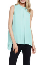 Women's Vince Camuto Sleeveless Mock Neck Front Pleat Blouse Aqua Shade