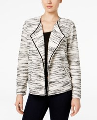 Styleandco. Style Co. Space Dyed Draped Jacket Only At Macy's Deep Black