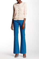 Vince Camuto Stretch Denim Flare Leg Pant Blue