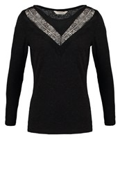 Naf Naf Long Sleeved Top Noir Black