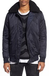Men's Members Only Satin Bomber Jacket Air Force