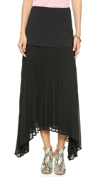 Camilla And Marc Free Flight Overlay Pleat Skirt Black