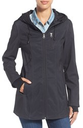 Women's Nautica Print Hooded Soft Shell Coat