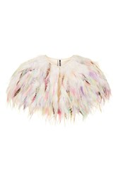 Topshop Feather Cape Multi