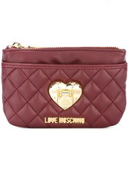 Love Moschino Heart Plaque Purse Red