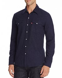 Levi's Barstow Western Night Regular Fit Snap Front Shirt Blue