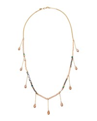 Emily And Ashley Greenbeads By Emily And Ashley Multicolored Beaded Gray Tassel Necklace Women's