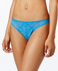 B.Tempt'd By Wacoal Ciao Bella Mesh Lace Thong 976144 Blithe