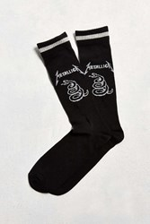 Urban Outfitters Metallica Sport Sock Black