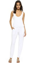 Feel The Piece Downtown Cutout Back Jumpsuit White